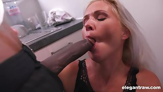 Unsatisfied white woman is getting her first inclination be advantageous to big ebony cock