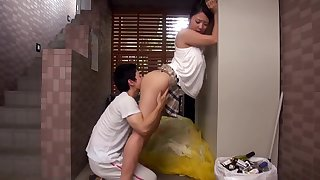 Horny Japanese Married Neighbour Fucks Young Dude