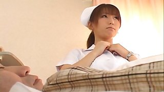 Trimmed pussy Japanese nurse Ai Sayama enjoys riding will not hear of patient