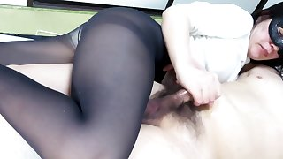 Black Pantyhose Face Sitting Handjob Count out