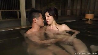 Japanese of age gives a blowjob with the addition of gets licked by a younger man