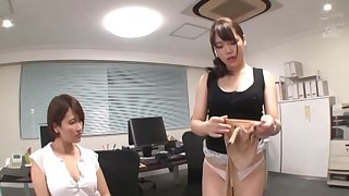 POV photograph of berth threesome with two horny Japanese babes