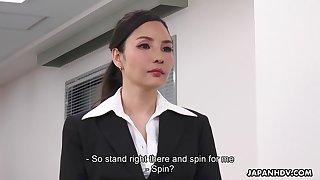 Asian lady becomes office property after having sex with her employer