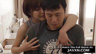 Arousing Japanese Mommy Increased by Hot Stepson